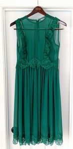Ted Baker Green Porrla Midi Dress Sz 3 (US 8/10)